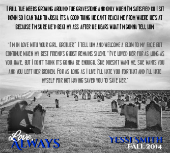 graveside quote B&W