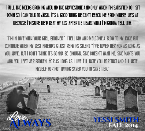 graveside quote B&W